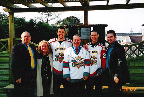 "The Garden was opened in March 2003 by ""Rocket"" Rod Stevens of The Belfast Giants Hockey Team."